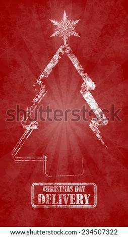 Christmas wallpaper - stock photo