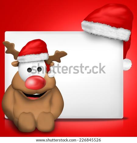 Christmas white blank board sign