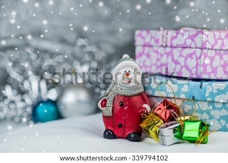Christmas with bokeh background - stock photo