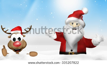 Christmas wood Santa Claus