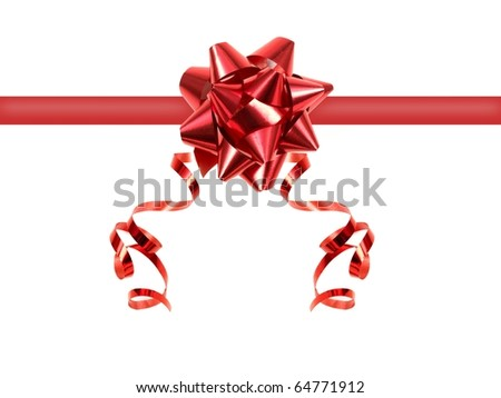 Christmas wrapping isolated against a white background - stock photo