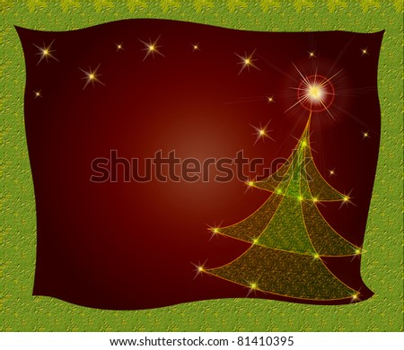 christmaspaper card background - stock photo
