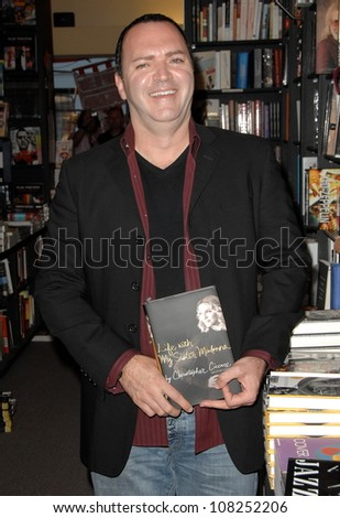 "Christopher Ciccone  at an in store appearance signing copies of his book ""Life With My Sister Madonna"". Book Soup, West Hollywood, CA. 07-30-08 - stock photo"