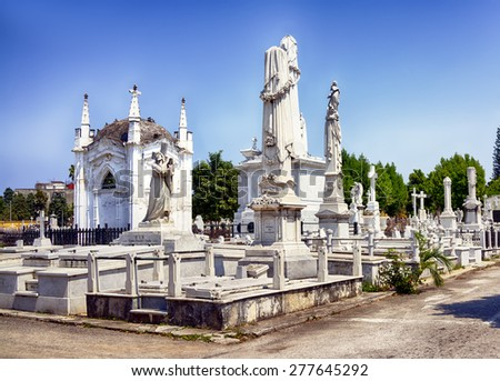 Christopher Columbus Cemetery in Havana, Cuba - stock photo