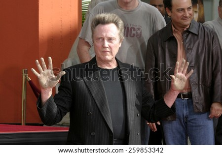 Christopher Walken Honored With A Hand & Footprints Ceremony held a the Grauman's Chinese Theatre in Hollywood, California United States on October 08 2004. - stock photo