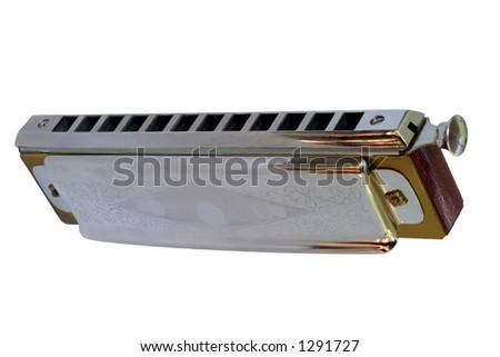 Chromatic Harmonica 4 - View from below - stock photo