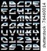 Chrome alphabet - stock vector