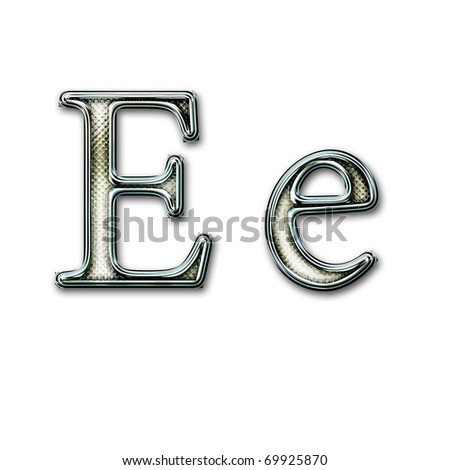 Chrome alphabet with snakeskin for web or letter