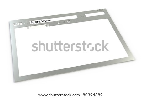 Chrome Browser. Chrome Browser window, isolated on white