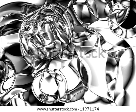 chrome metallic background with some soft reflections