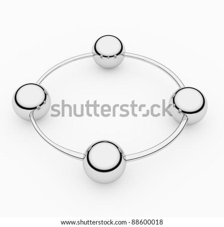 chrome ring - stock photo