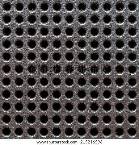 Chrome texture grill metal isolated - stock photo