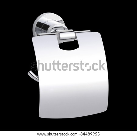 Chrome tissue paper holder - stock photo