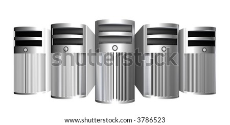 Chrome Workstations - stock photo