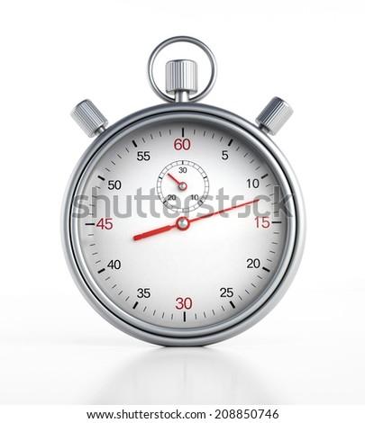 Chronometer isolated on white background - stock photo