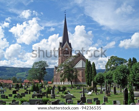 Chruch in Lillehammer Norway - stock photo