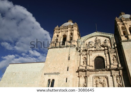 Church and clouds - stock photo