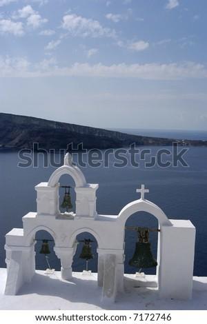 Church at Oia, santorini greece - stock photo
