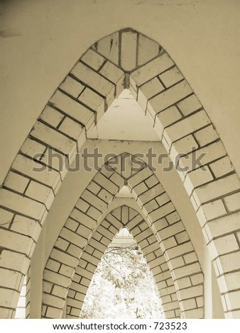 church corridor - stock photo