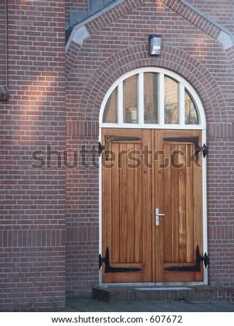 Church door - stock photo
