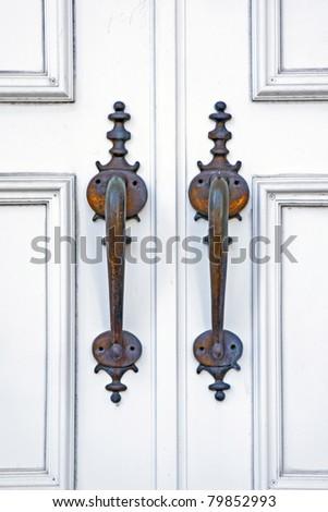 Church door handles. - stock photo