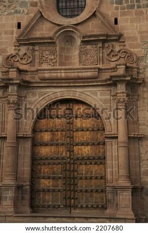 church door in the Cuzco,Peru - stock photo