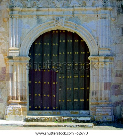 Church doorway Mazatlan Mexico