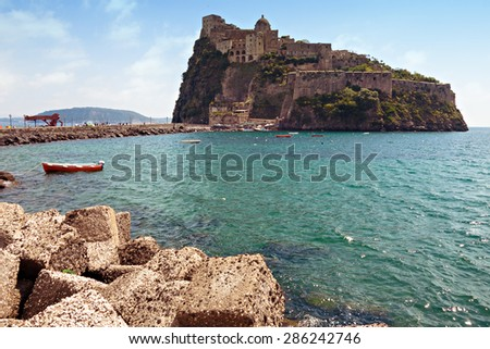 Church, fortress, prision  and Monastery of the island Ischia, Bay of Naples