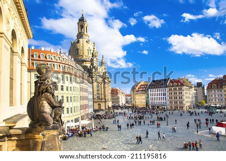 Church Frauenkirche in Dresden Germany - stock photo