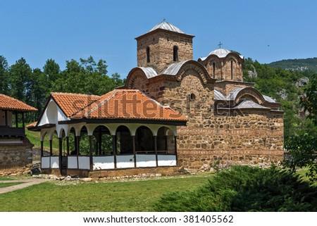 Church from the fourteenth century in Poganovo Monastery of St. John the Theologian, Serbia - stock photo
