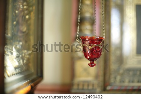 church from within, details of interior - stock photo