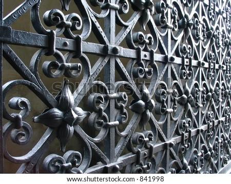 Church gate 2 - stock photo