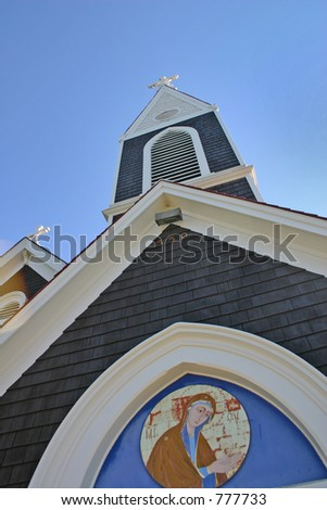 Church in California - stock photo