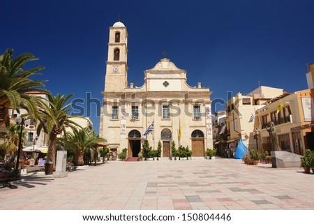 Church in Chania, Crete - stock photo