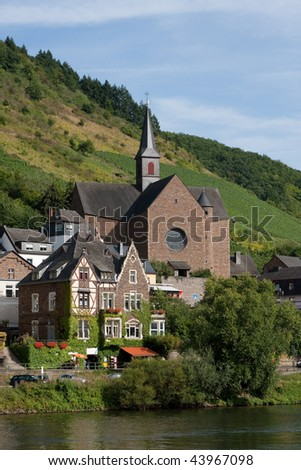 Church in Cochem (Germany) - stock photo