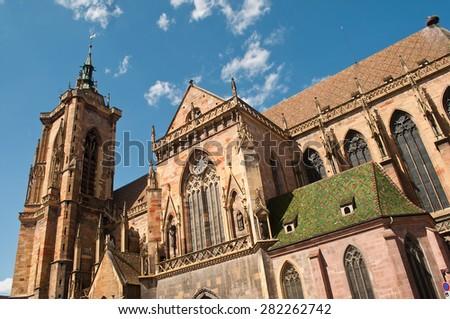 church in Colmar - Alsace - France - stock photo