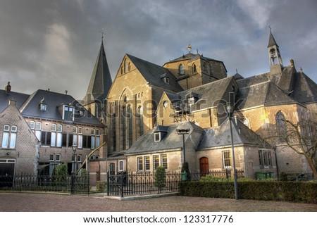 Church in Denekamp - Overijssel, the Netherlands - stock photo