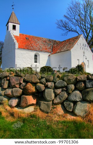church in denmark in scandinavia. Christian place of worship and religion - stock photo