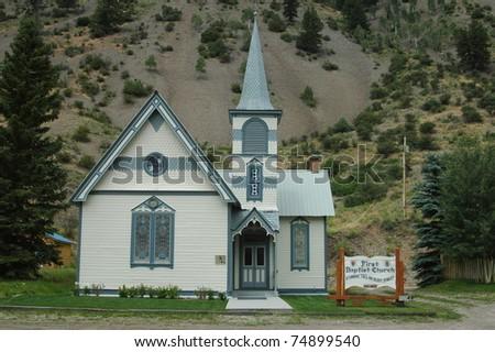 Church in Lake City, Colorado - stock photo
