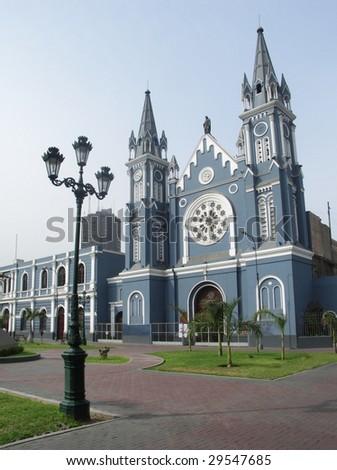 Church in Lima Peru - stock photo