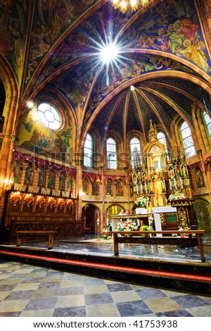 church in Poland - stock photo