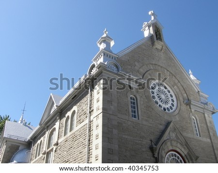 Church in Quebec City, Canada - stock photo