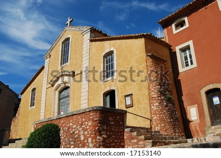 Church in Roussillon - France