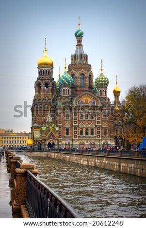 Church in Saint Petersburg - stock photo