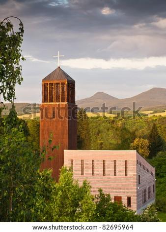 church in sunlight - stock photo