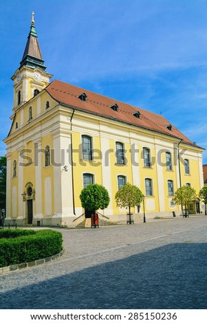 Church in the City of Szekesfehervar, Hungary - stock photo