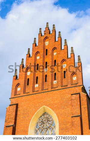 Church in the Old town of Krakow, Poland - stock photo