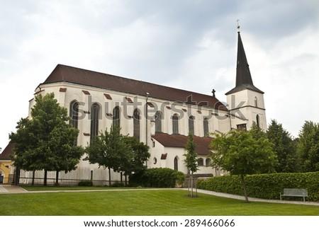 Church in town of Litomysl, Czech Republic - stock photo