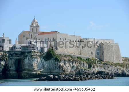 Church in town of Vieste on Puglia, Italy