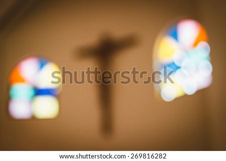 church interior - stock photo